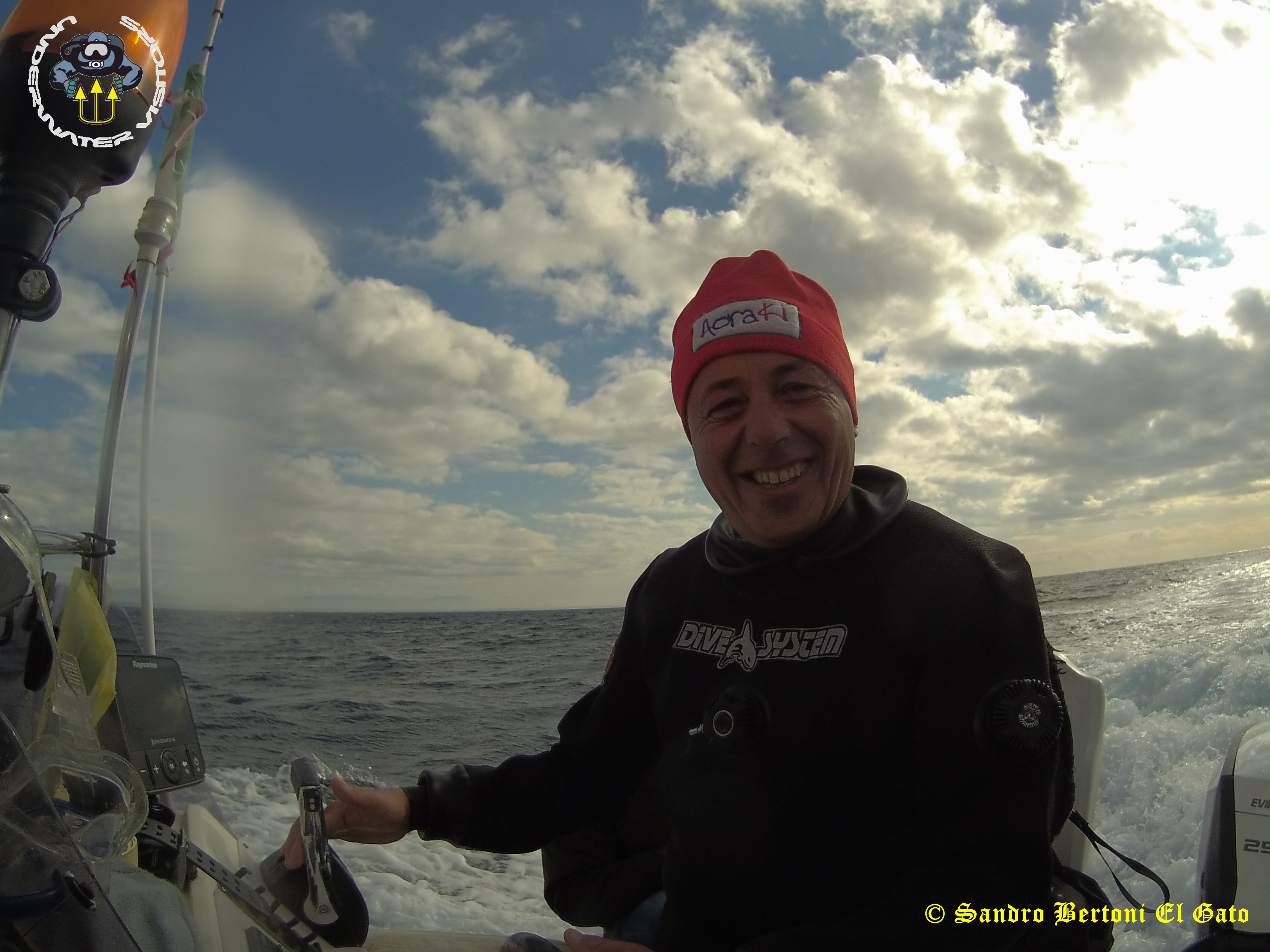 Mario Conti really scuba diving