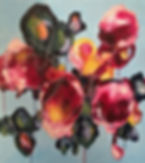 Abstract floral painting, elisa gomez, abstract art
