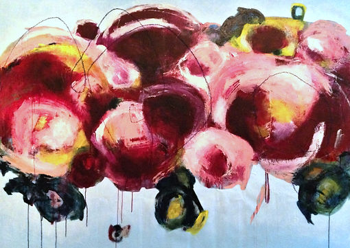 Abstract floral painting elisa gomez, abstract art