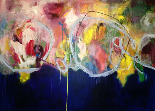 Abstract painting, elisa gomez, abstract art