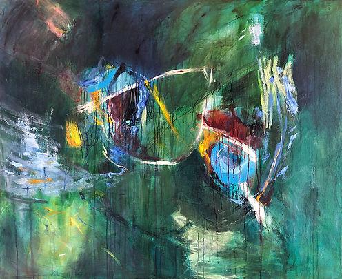 Terrain VII painting, elisa gomez