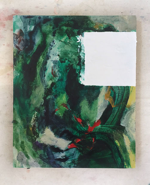 Abstract painting, interrupted