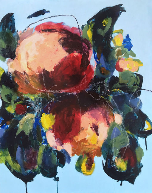 Abstract floral paintingelisa gomez, abstract art