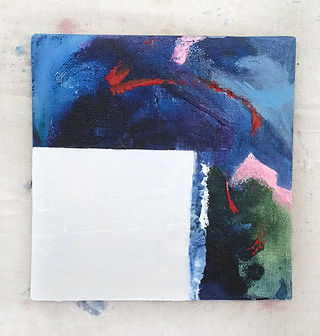 Abstract painting, interrupted, elisa gomez