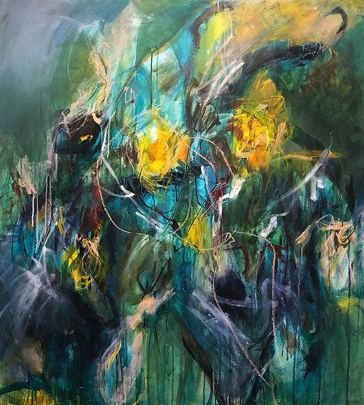 Terrain VI painting, elis gomez