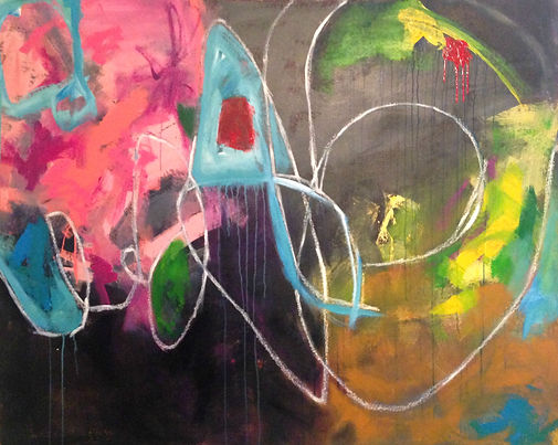Abstract painting, elisa gomez, abstract art, commissioned art