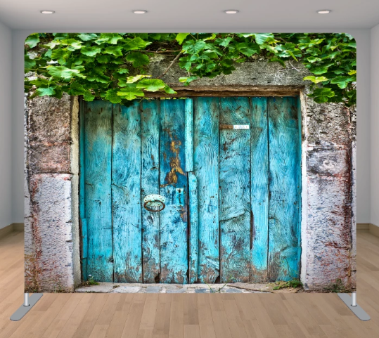 Blue Doors with Greenery