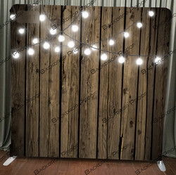 Wood With String Lights