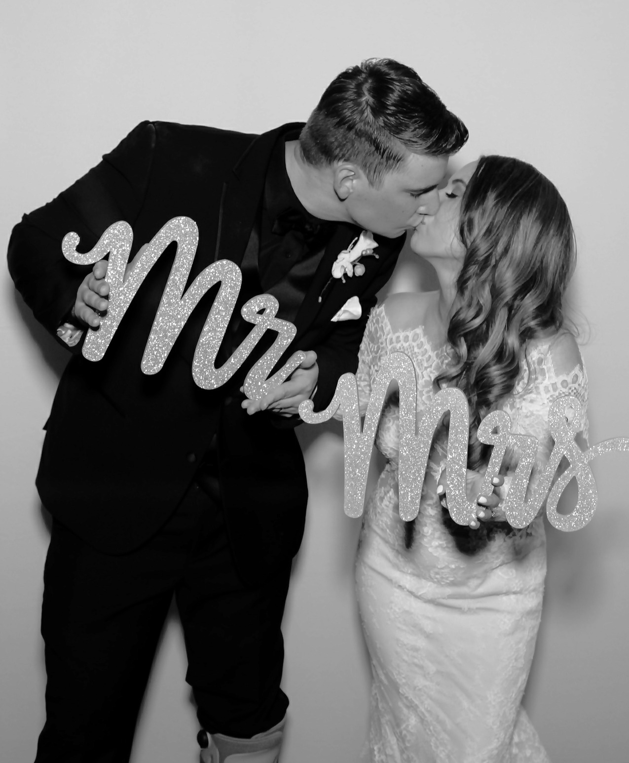 Black and White Wedding Photo Booth