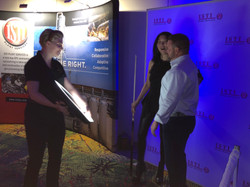 Roaming photo booth at corporate event