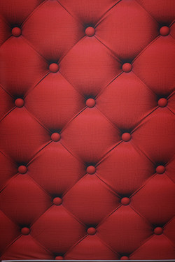 Red Suede Tufted