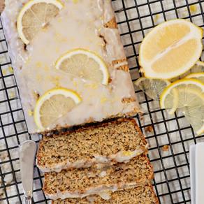 Easy Peasy Lemon Squeezy: Blender Vegan Lemon Poppy Seed Loaf with a Lemon Vanilla Glaze