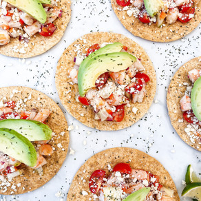 Keeping Things Fresh: No Cook, 30 Minute or Less Shrimp Ceviche Tostadas