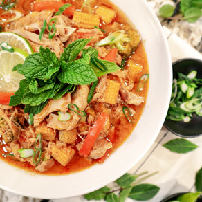 Keep Calm and Curry On: Slow Cooker Thai Coconut Curry Chicken Thighs with Mixed Vegetables