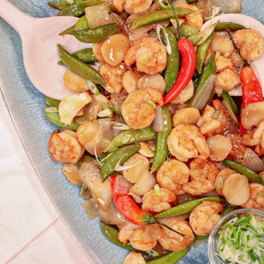 Easy, Quick and So Satisfying: Ginger Lime Shrimp with Mixed Vegetables
