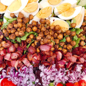 No Chicken, No Problem: This Crispy Chickpea Cobb Salad Will be Your New Favorite Cobb Salad