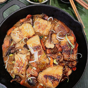 This Dish Makes Miso Happy: Miso Black Cod with Carrots, Leeks and Mushrooms