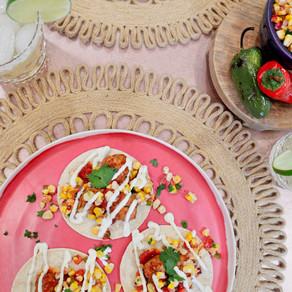 May 2021 Taco Tuesday: Mini Albondigas Street Tacos with a Roasted Corn Salsa & a Lime Crema Drizzle