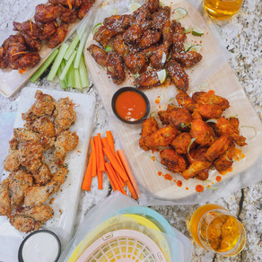 Skip the Oil, Mushy Wings and Guilt: Build Your Own Wing Basket with Crispy Air Fryer Wings 4 Ways