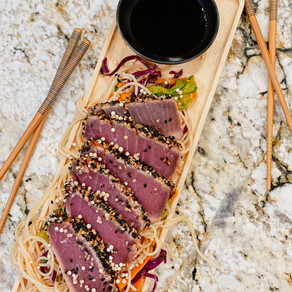 A Fish Worth Getting Excited About: Sesame Crusted, Seared Ahi Tuna