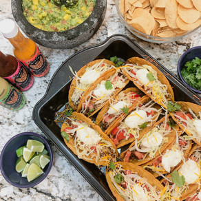 Taco Tuesday for August 2020: Mango Guacamole and Twice Baked Hard Shell Tacos