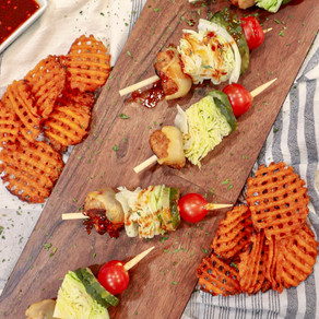 First They're Spicy, Then They're Sweet: Firecracker Turkey Burger Skewers