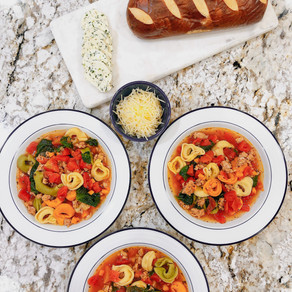 The Perfect Soup and Salad Duo to Transition from Summer to Fall: Tortellini Soup with a Napa Salad