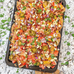 All Cheese and Chicken Lovers Unite: Easy Double Decker Loaded BBQ Chicken Nachos