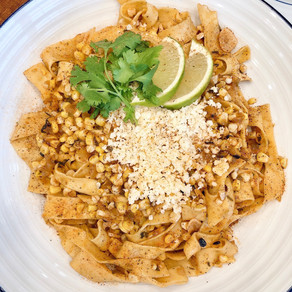 Move Over All Other Pastas. There is a New Pasta in Town: Charred Elote Pappardelle