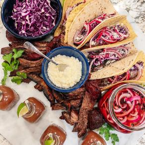 Taco Tuesday for September 2020: Grilled Tacos, Elote Casserole, Pico de Gallo and Mini Margaritas