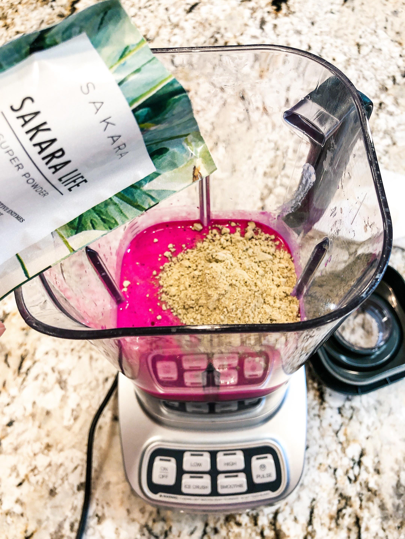 Sakara Super Powder Added in After Ingredients are Blended