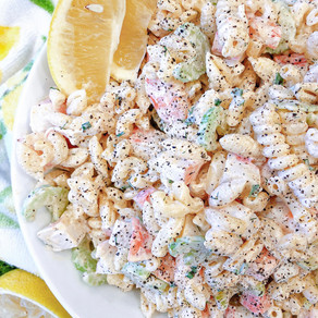 The Pleasure of the Sea on your Plate: Creamy Triple Seafood Pasta Salad