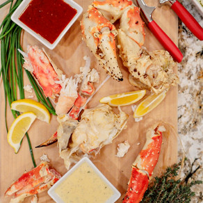 The Perfect Catch to Impress Your Loved One or Yourelf: King Crab Legs with 3 Dipping Sauces