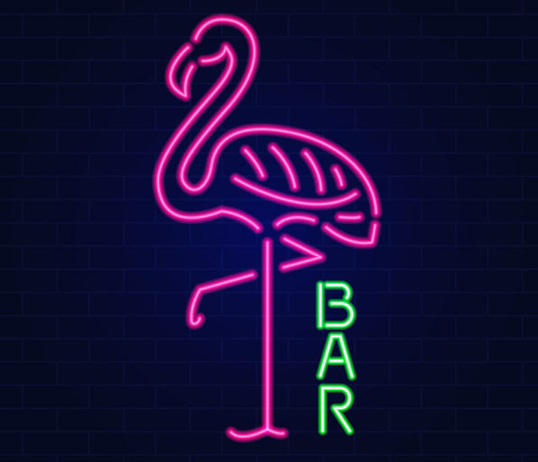 glowing-neon-effect-sign-with-pink-flami