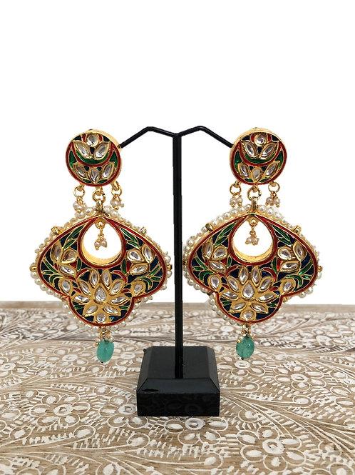 Meghana kundan earrings