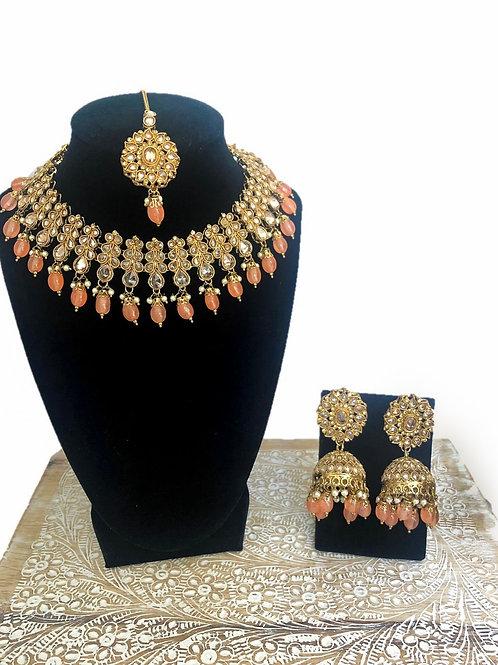 Deepa orange necklace