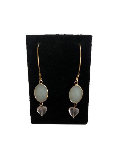 Sea green earrings