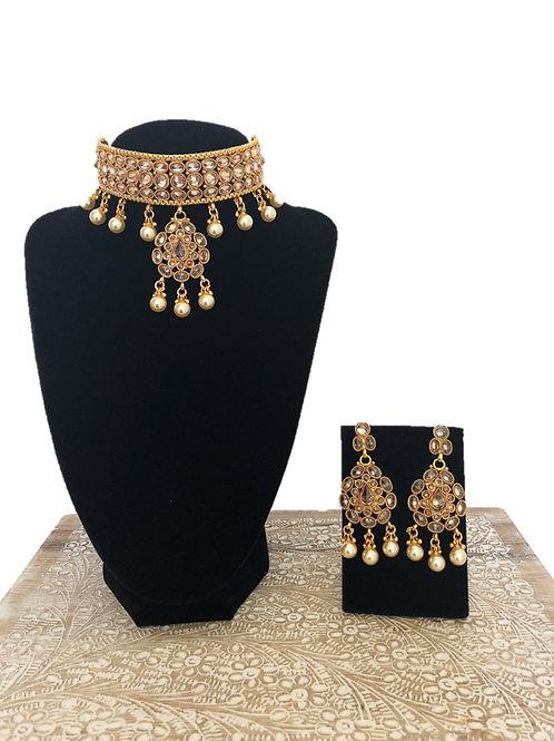 Sadhana pendant choker necklace