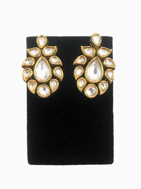 Kundan paan earrings