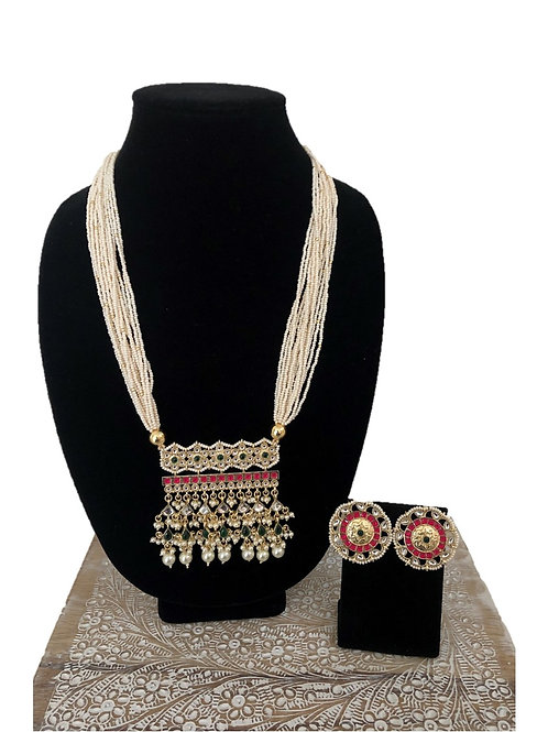 Aashi pink/green necklace
