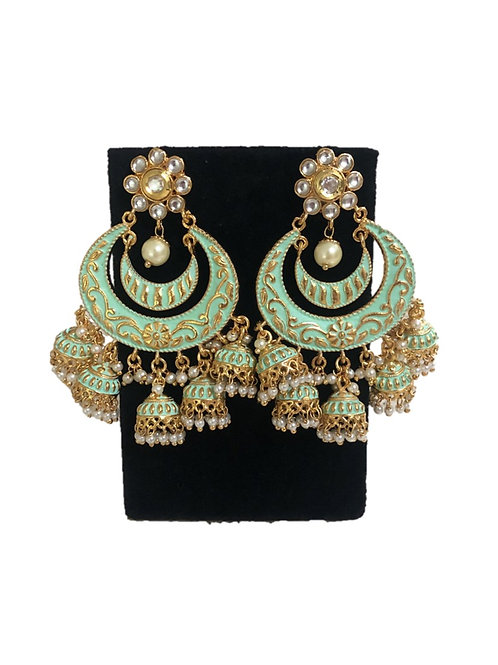 Mint green Shreena earrings