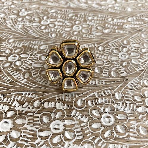 Kundan flower ring