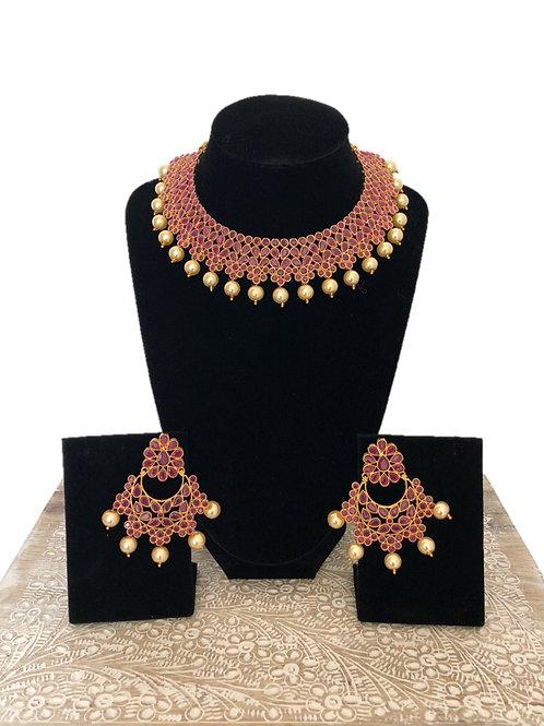 Shabana flower necklace