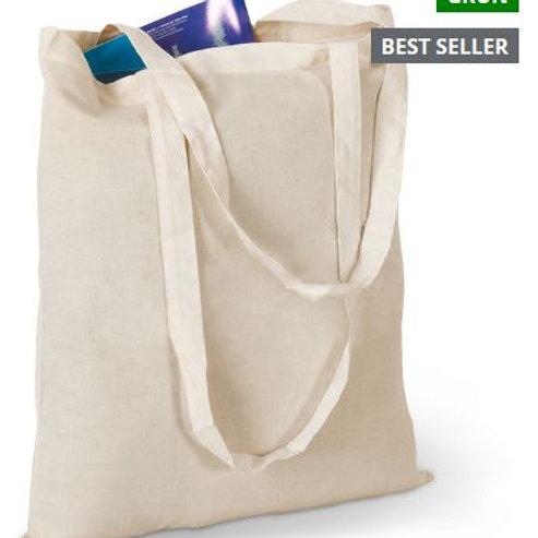 Einkaufstasche aus Baumwolle mit langen Griffen