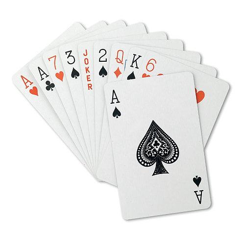 Klassische Spielkarten in einer Kunststoffbox. PP. 54 Karten.