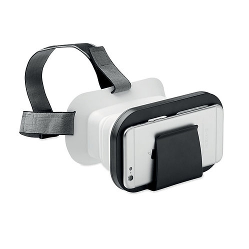 Faltbare Virtual-Reality Brille. ABS und Silikon
