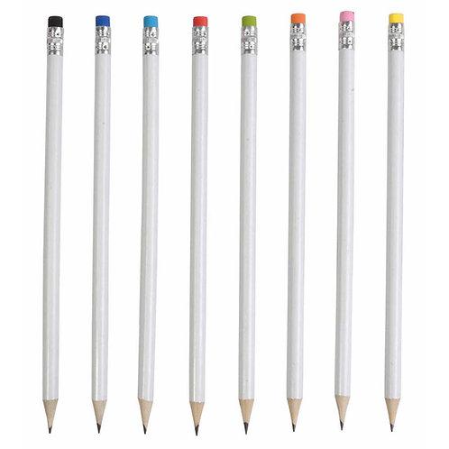 Bleistift, rund mit Radiergummi, 19 cm
