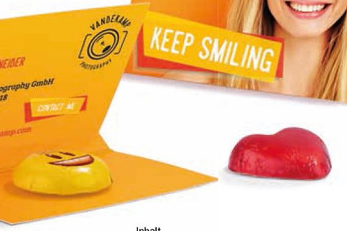 Werbekarte mit Lindt Schokolade