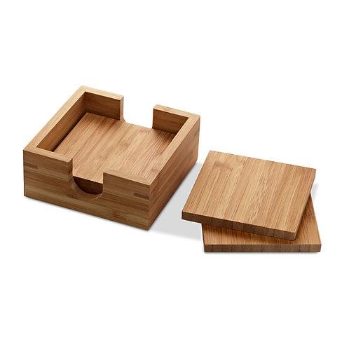 Set mit 4 Untersetzern aus Bambus