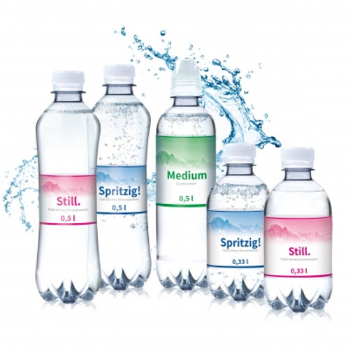 Mineralwasser in diversen Grössen
